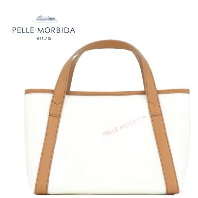 ペッレモルビダ PELLE MORBIDA Tela Marina テーラマリーナ PVCコーティング ロゴ ハンドバッグ PMO-TE007 CAM(キャメル)