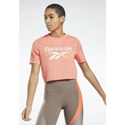 リーボック Tシャツ レディース トップス REEBOK IDENTITY CROPPED T-SHIRT - Print T-shirt - red