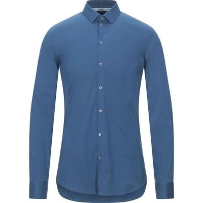 パトリツィア ペペ PATRIZIA PEPE メンズ シャツ トップス Solid Color Shirt Blue