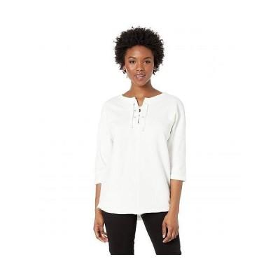 Jag Jeans Petite ジャグジーンズ レディース 女性用 ファッション パーカー スウェット Petite Debbie Lace-Up Sweatshirt - Swan