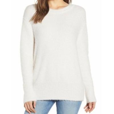 Chelsea28 チェルシートウェンティエイト ファッション トップス Chelsea28 Womens White Size Medium M Textured Fuzzy Pullover Sweate