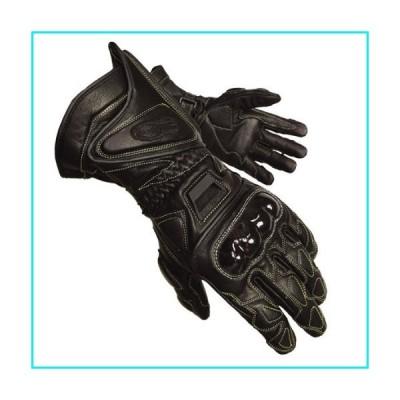 Olympia 340 Vented Kevlar Protector Motorcycle Sport Gloves (Black, Large)【並行輸入品】