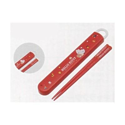 ハローキティ[HelloKitty](KT)食洗器対応スライド箸&箸箱セット(名入れスペース付お箸)(はしはし箱セット)(ABS2AM(359583))