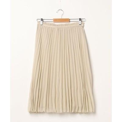 スカート すきな丈プリーツスカート(ミディ)*