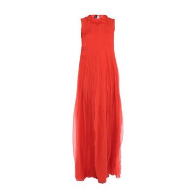 ロシャス ROCHAS ロングワンピース&ドレス レッド 40 シルク 100% ロングワンピース&ドレス
