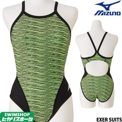 ミズノ MIZUNO 競泳水着 レディース 練習用 ミディアムカット EXER SUITS U-Fit 競泳練習水着 N2MA9775
