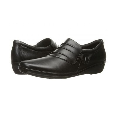 Clarks クラークス レディース 女性用 シューズ 靴 ローファー ボートシューズ Everlay Heidi - Black Leather