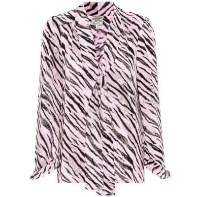 バウム ウンド ヘルガーデン Baum und Pferdgarten レディース ブラウス・シャツ トップス malia tiger-printed blouse Pink Tiger