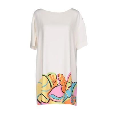 BOUTIQUE MOSCHINO ミニワンピース&ドレス ホワイト 38 ポリエステル 95% / 指定外繊維 5% ミニワンピース&ドレス