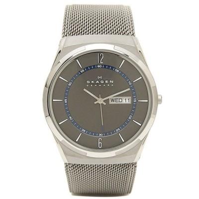 「P10%還元 5/15〜16」スカーゲン 時計 メンズ チタン 40MM クォーツ グレー シルバー SKAGEN SKW6078