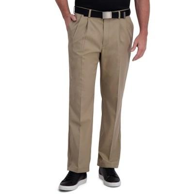 ハガール カジュアルパンツ ボトムス メンズ Cool Right Performance Flex Classic Fit Pleat Front Pant Khaki Heather