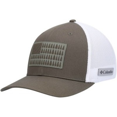コロンビア メンズ 帽子 アクセサリー Columbia Mesh Tree Flag Flex Hat Olive/White