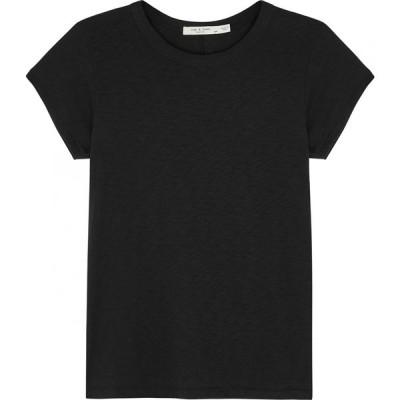 ラグ&ボーン rag & bone レディース Tシャツ トップス The Tee black cotton T-shirt Black
