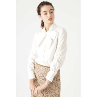 JILLSTUART (ジルスチュアート) レディース ◆ボウタイリボン付きシャツ CHALK(030) M