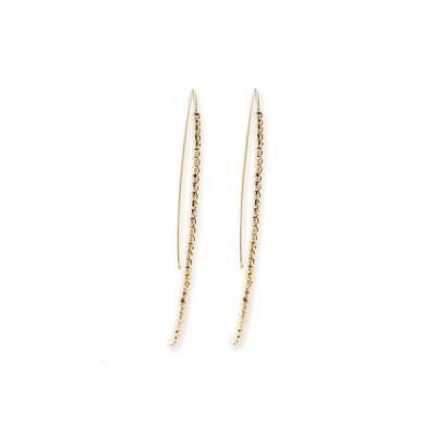 ミズキ レディース ピアス・イヤリング アクセサリー 14k Gold Beaded Marquise Drop Earrings