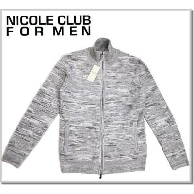 ニコルクラブフォーメン NICOLE CLUB FOR MEN カモフラリンクスニットブルゾン 0564-6301 JACKET