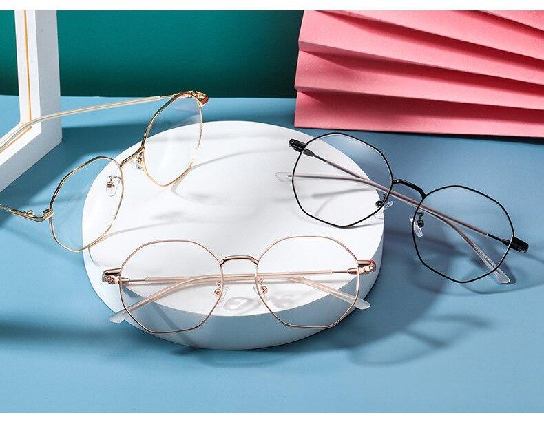 多邊型防藍光不規則平光鏡 護目眼鏡框8067