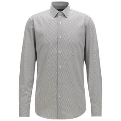 ヒューゴボス メンズ シャツ トップス BOSS Men's Slim Fit Cotton Shirt White