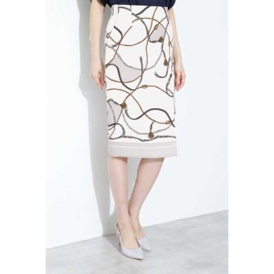 BOSCH / [ウォッシャブル]スカーフプリントスカート