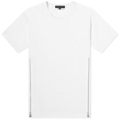 コム デ ギャルソン Comme des Garcons Homme Plus メンズ Tシャツ トップス Side Zip Tee White