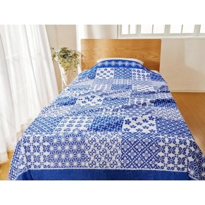 父の日 ギフト プレゼント 今治産 タオルケット パッチワーク調 シングルサイズ 140×190cm 夏 快眠 睡眠 暑さ対策 日本製