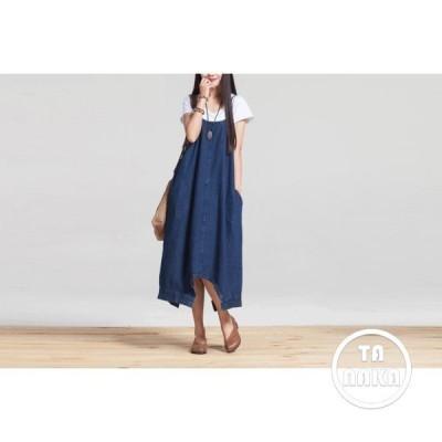サロペット デニム レディース SI オーバーオール 大きいサイズ サロペットスカート オールインワン デニムスカート デニムパンツ