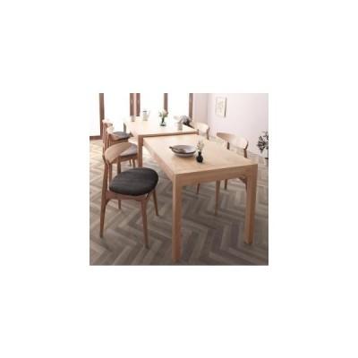 ダイニングテーブルセット 6人用 北欧デザイン スライド伸縮テーブル ダイニングセット 7点セット テーブル+チェア6脚 W135-235