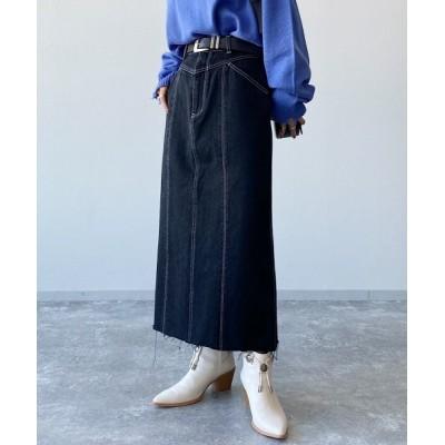 PAGEBOY / バックベンツデニムスカート WOMEN スカート > デニムスカート