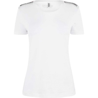 モスキーノ MOSCHINO レディース Tシャツ トップス Taping T Shirt White