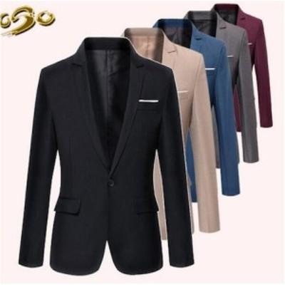 二枚送料無料/メンズスーツジャケット/カジュアル/長袖/一つボタン/テーラードジャケット /お兄系/コート/6色/フォーマル/ビジネス/通勤