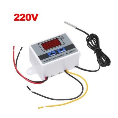 XH-W3001インテリジェントデジタルマイクロコンピュータ温度コントローラ、LEDディスプレイ付きミニサーモスタットスイッチ加熱/冷却温度制御スイッ