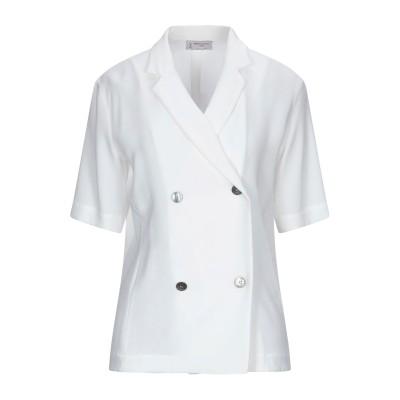 アルベルト・ビアーニ ALBERTO BIANI テーラードジャケット ホワイト 38 トリアセテート 70% / ポリエステル 30% テーラード