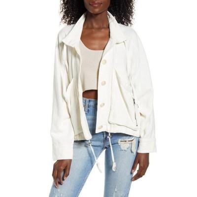ブランクニューヨーク レディース ジャケット&ブルゾン アウター Linen Blend Utility Jacket CLEAN SLATE