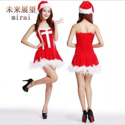 新作 クリスマス衣装 女性 サンタコス 聖夜パーティー レディース  コスチューム サンタクロース衣装 仮装変装 パーティー イベント