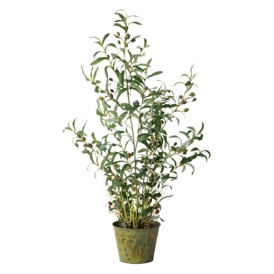 人工観葉植物オリーブ 高さ106cm 鉢カバーなし  106