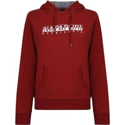 ナパピリ Napapijri レディース パーカー スウェット トップス Hooded Sweatshirt Old Red