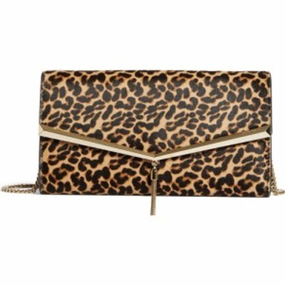 ジミー チュウ JIMMY CHOO レディース クラッチバッグ バッグ Elish Leopard Print Leather Clutch Natural Mix/Light Gold