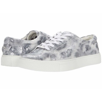 Jスライド スニーカー シューズ レディース Lacee Silver/Black Leopard Snake Print Leather
