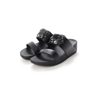 フィットフロップ fitflop ROSA CLUSTER SLIDES (Black)
