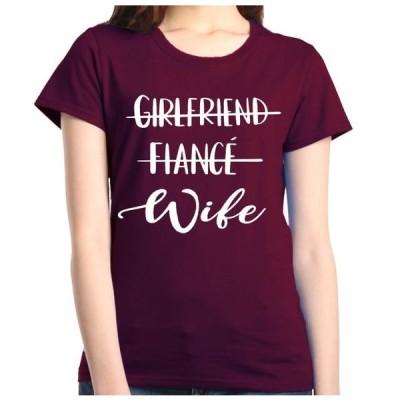 レディース 衣類 トップス Shop4Ever Women's Girlfriend Fiance Wife Wedding Graphic T-Shirt Tシャツ