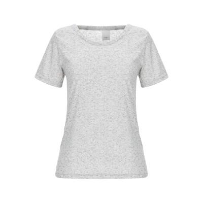 イチ ICHI T シャツ ライトグレー XS ポリエステル 68% / レーヨン 20% / 麻 12% T シャツ