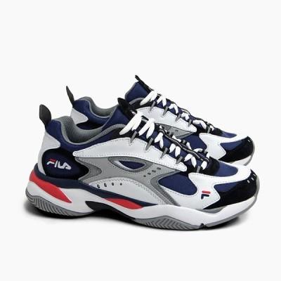 フィラ メンズ スニーカー FILA BOVEASORUS [F5071 0576 FILANAVY/WHITE/GREY] ボバザラス ネイビー 紺 白 ロゴ 靴 ダッドスニーカー ダッドシューズ