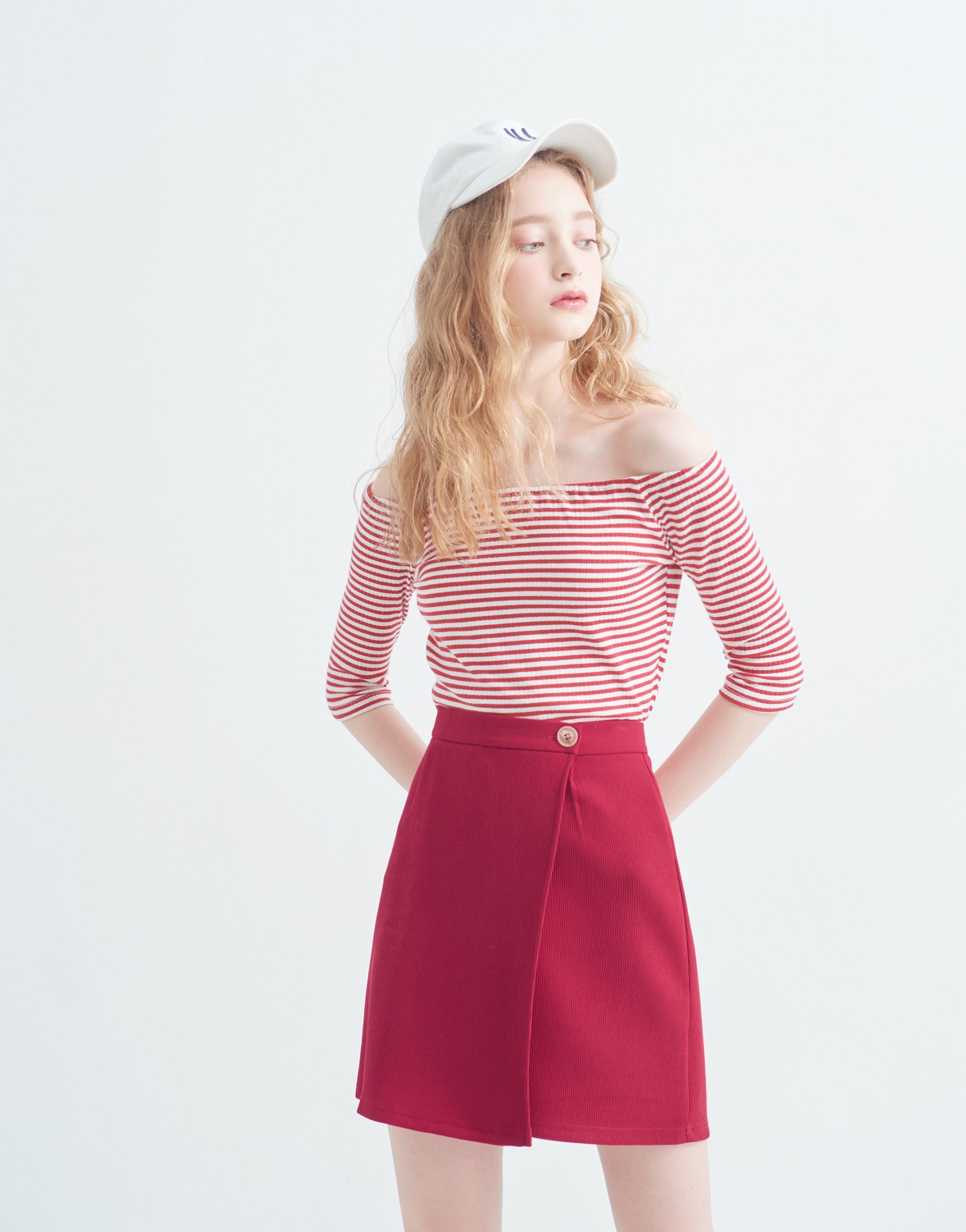 設計感特殊壓褶褲裙-PAZZO