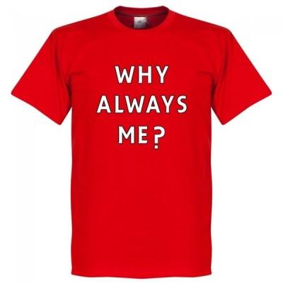 SOCCER マリオ・バロテッリ マンチェスター・シティ Tシャツ Why Always Me? T-shirt RETAKE レッド