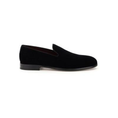 DOLCE&GABBANA/ドルチェ&ガッバーナ ローファー NERO Dolce & gabbana leonardo velvet loafers メンズ A50396 A6808 ik