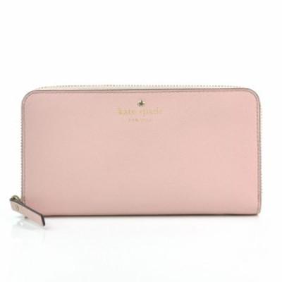 【中古】ケイトスペード 長財布 ◆  レディース ◆定番人気 ピンクxゴールドカラー k7992