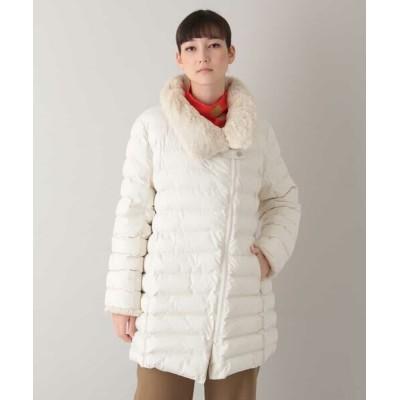 HIROKO KOSHINO/ヒロココシノ マイクロタフタ中綿コート アイボリー 38