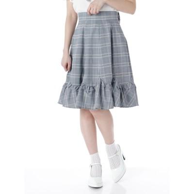 裾スカラフリルスカート