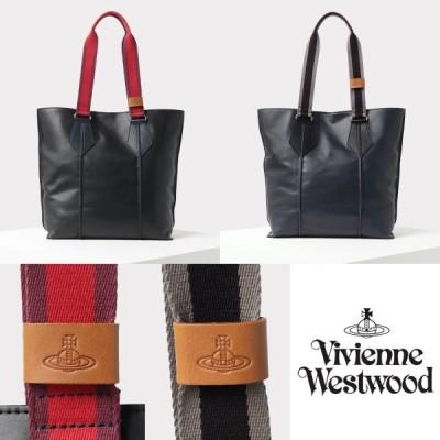 ヴィヴィアンウエストウッド Vivienne Westwood  メンズ バッグ レザー トートバッグ 2色 A4サイズ収納可 通勤 通学 取り寄せ