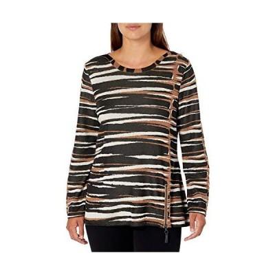 NIC+ZOE Women's Mighty Zip Sweater, Black Multi, XL並行輸入品 送料無料